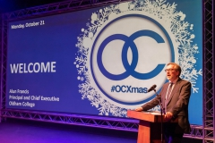 #OCXmas Christmas song event at Grange Arts Centre, Oldham College.